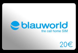 blauworld 20 euro aufladen online